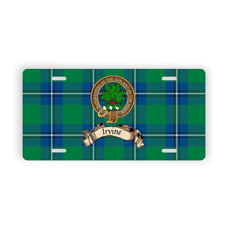 Irvine Scotland Clan Tartan Novelty Auto Plate
