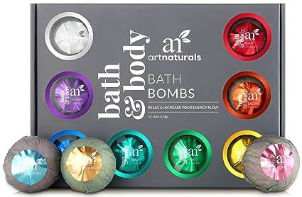 Bagno Rilassante Con Oli Essenziali : Art naturals bombe da bagno set con oli essenziali oz g