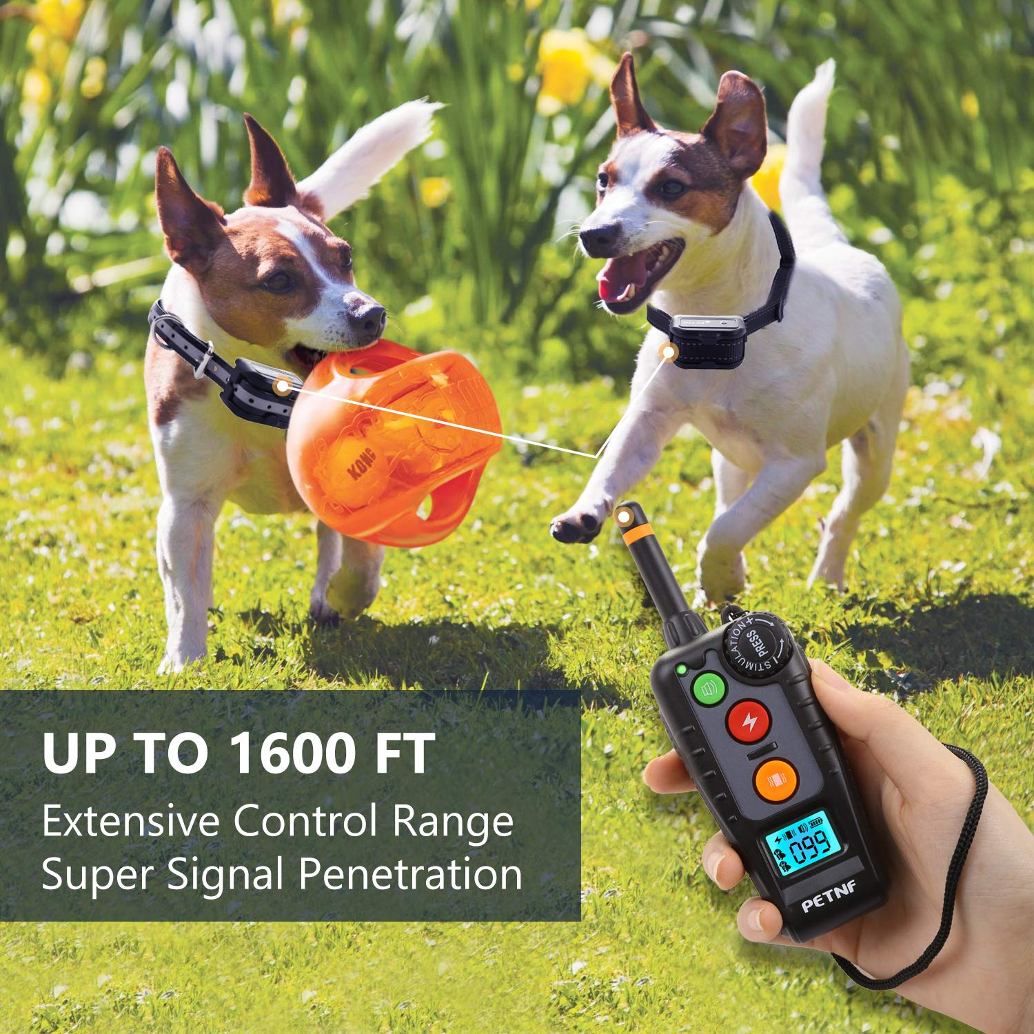 Shock Collar for Dogs,2019 Newest Dog Shock Collar with Remote,Dog Training Collar, Electric Bark Collar Rechargeable Waterproof,3 Training Modes,Remote Range Control,Backlight LCD Screen,Anti Leakage
