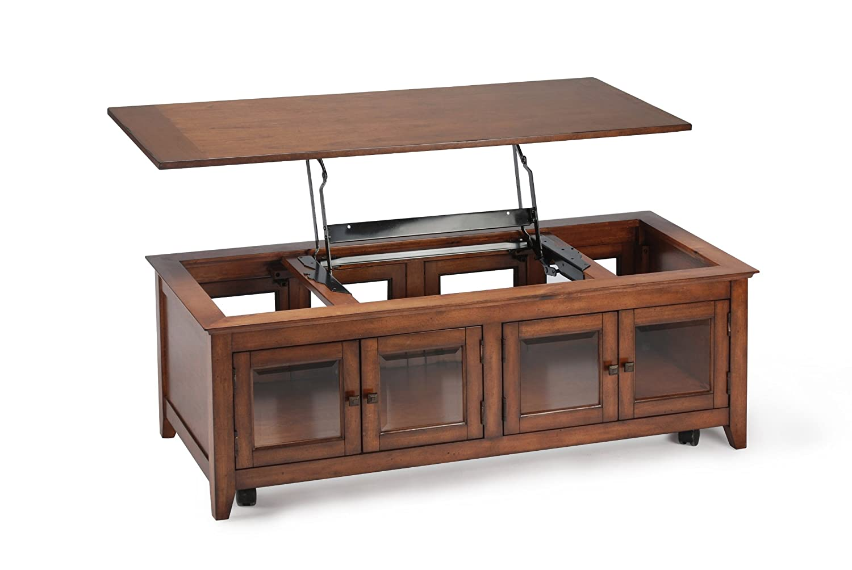 Amazon.com: Magnussen Harbor Bay Wood Lift Top Cocktail Table: Kitchen U0026  Dining