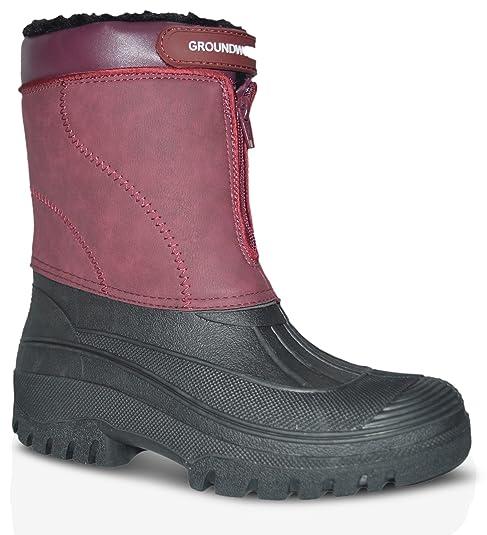 Trabajo Mujer Rojo Amazon Groundwork Talla Botas es Complementos Y Zapatos  Eu De Color 38 Agua HCAtwq 765f9ce6998
