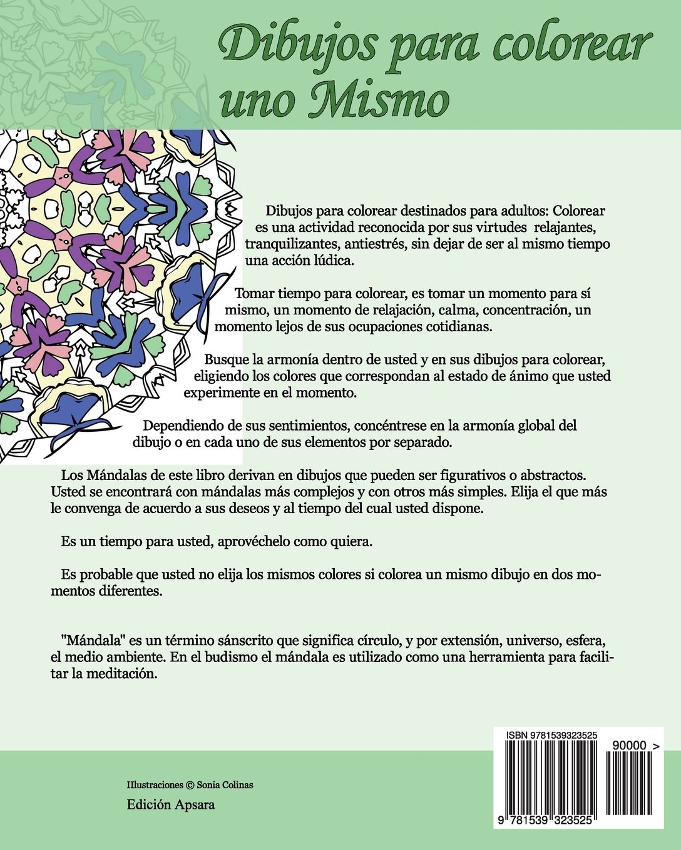 Amazon.com: Dibujos para colorear uno Mismo - Mándalas - Volumen 1 ...