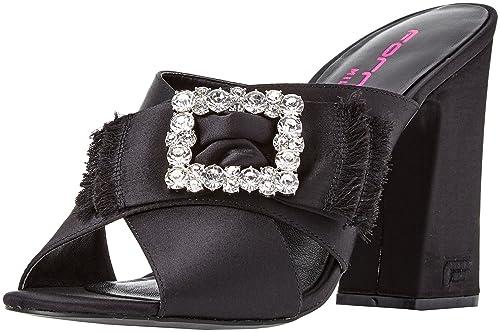 online store 78a05 b6819 Fornarina Women's Gilda Open Toe Heels, Black, 4: Amazon.co ...