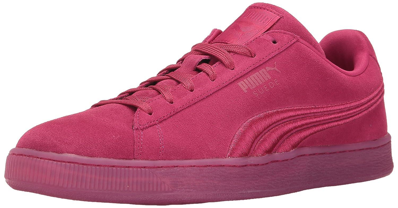 PUMA Suede Classic Badge Iced Fashion Sneaker  Vivacious  9.5 M US