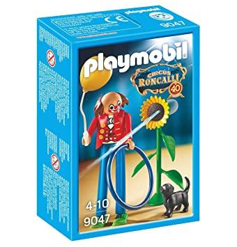 PLAYMOBIL - 9047 - Roncalli Zirkus Circus - Clown mit Blume & Hund