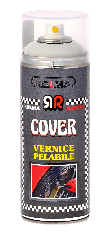 ROLMA COVER Vernice removibile BIANCO OPACO - removable paint - bomboletta spray 400 ml. - spray can 400 ml.