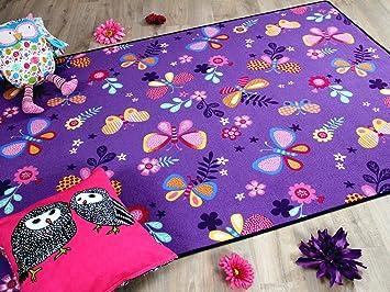 Teppich Schmetterling Rosa ~ Snapstyle kinder spiel teppich schmetterling lila in größen