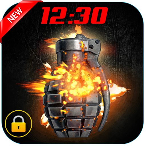 Grenade Zipper Lock Screen
