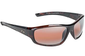 Huelga rey S11 óptica Bristol polarizadas gafas de sol, Unisex, Shiny Brown Tortoise Shell Frame - DAB Amber Lens: Amazon.es: Deportes y aire libre