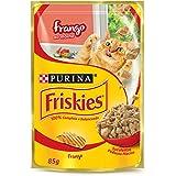 Nestlé Purina Friskies Ração Úmida Para Gatos Adultos Frango Ao Molho 85g