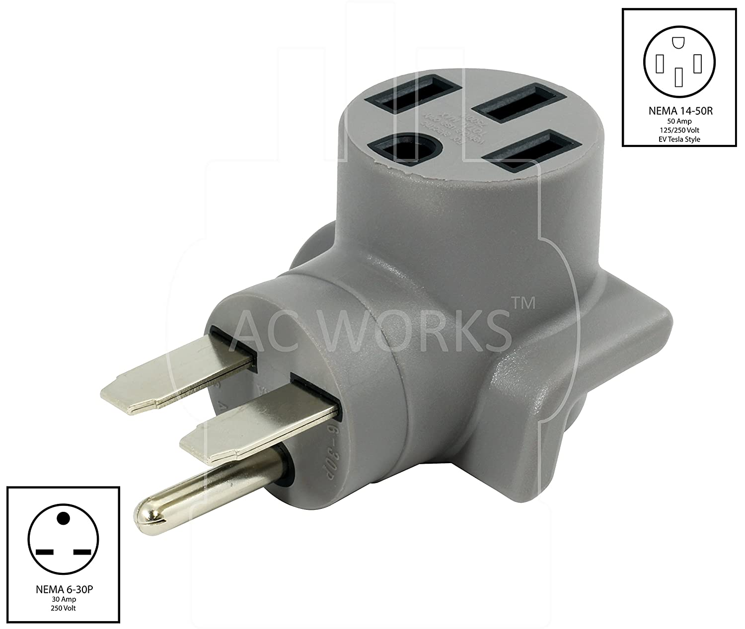 Ac Works Ev Charging Adapter For Tesla Use 6 30 30a 250v Unit To 50 Rv Wiring Diagram On Amp