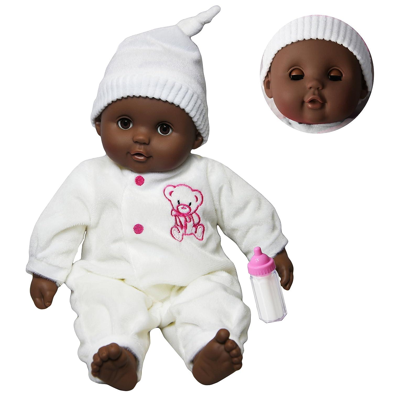 The magic toy shop 16 black dark skin ethnic newborn baby african soft bodied doll sleeping eyes amazon co uk toys games