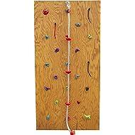 Slackers DIY Rock Climbing Wall Kit w/ Climbing Rope | Rock Wall | Obstacle Course Wall | Rock Climbing Playset