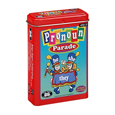 Super Duper Publications Pronoun Parade Fun Deck Flash Cards Educational Learning Resource for Children: Toys & Games