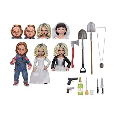 "NECA - Bride of Chucky - 7"" Scale Action Figure - Ultimate Chucky & Tiffany 2-Pack: Toys & Games"