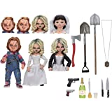 """NECA - Bride of Chucky - 7"""" Scale Action Figure - Ultimate Chucky & Tiffany 2-Pack"""