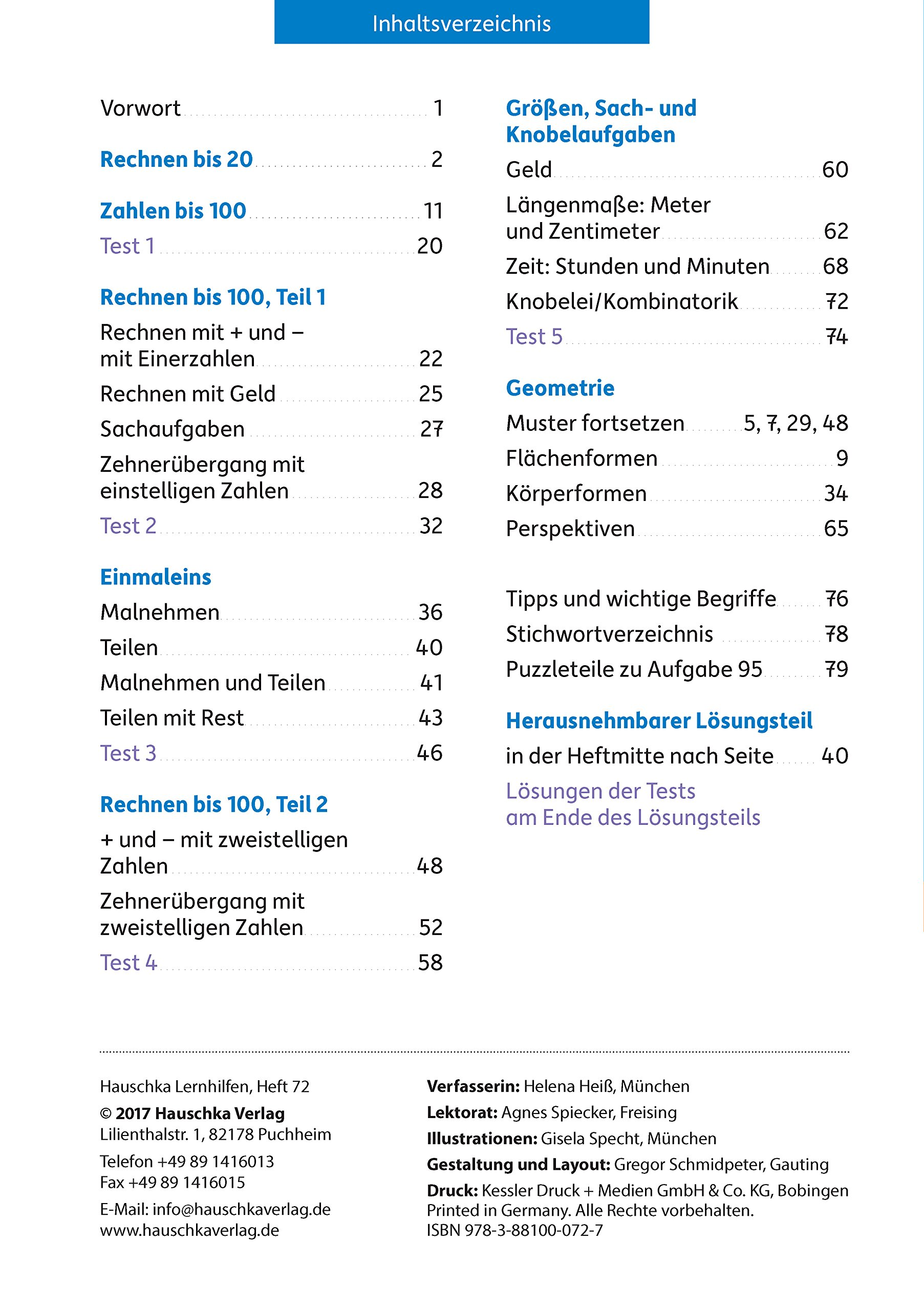Mathe trainieren 2. Klasse: Amazon.de: Helena Heiß, Gisela Specht ...