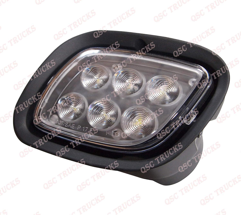 QSC Full LED Fog Lights Lamps Pair w// LED Halo for Freightliner Cascadia 08-17
