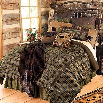 Amazon Com Black Forest Decor Alpine Bear Bed Set King Home