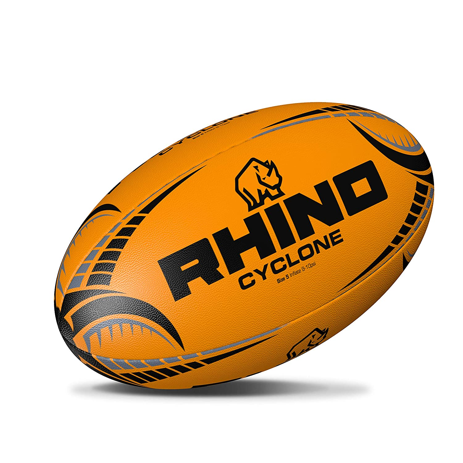 Rhino Cyclone XV d'entraînement Rugby Ballon de Rugby – Fluo Orange
