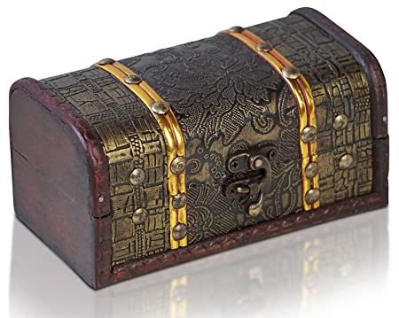 Brynnberg Wooden Pirate Treasure Chest Small Decorative Storage Gorgeous Small Decorative Storage Boxes With Lids
