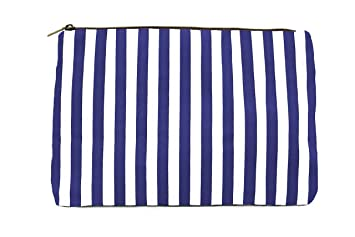 426785d5f651 Amazon.com   Limited Time Sale - Blue Womens Striped Cosmetic Bag ...