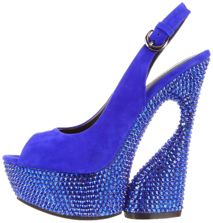 21d698e961b1e Pleaser Women's Swan-654DM/RYBLS Platform Sandal