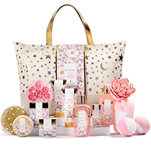 Gift Basket for women, Spa Luxetique Spa Bath Set, 15pcs Bath and Body Spa Gift Set with Essential Oil, Body Lotion, Bath Bomb, Christmas Gifts Set for Women