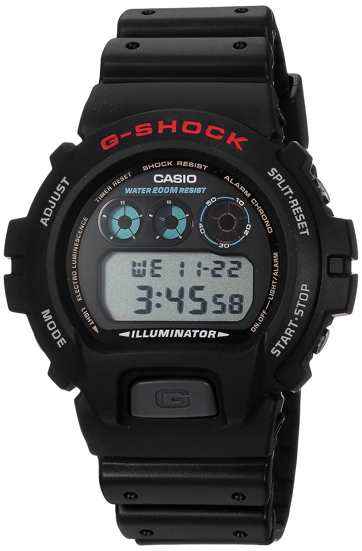 Reloj CASIO G-SHOCK DW-6900-1VC Cronógrafo, Alarma, Cuenta regresiva, Sumergible 20BAR-Correa de caucho negra