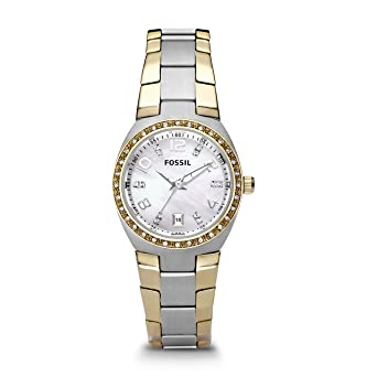 b84f78e6c65 Fossil Women s AM4183 Serena Two-Tone Stainless Steel Watch with Link  Bracelet