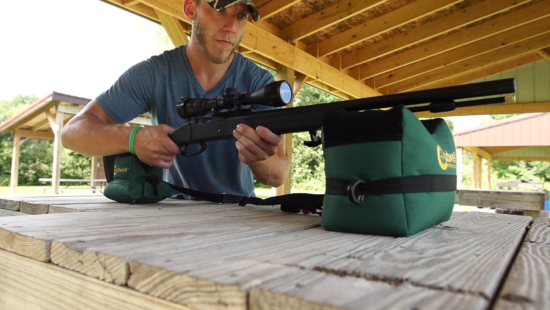 Sporting Goods 600D Large Shooting Rifle Gun Rests Shot Bag Combo Front+Rear Unfilled Sand Bag