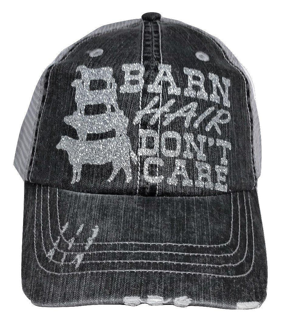 Loaded Lids Women's Barn Hair Don't Care Bling Baseball Cap