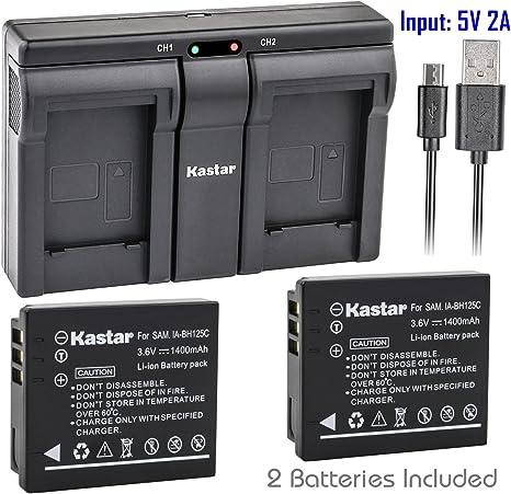 Cargador USB para Pentax D-Li106//Ricoh DB-60 Batería DB-65//IA-BH125C