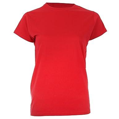 3708321d8c0b5 GILDAN - T-shirt - - Uni Femme Rouge Rouge cerise - Rouge - Rouge ...