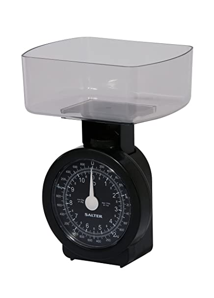 Salter Compact Mechanical Kitchen Scales  Kg Capacity Metric Imperial Measures Clear