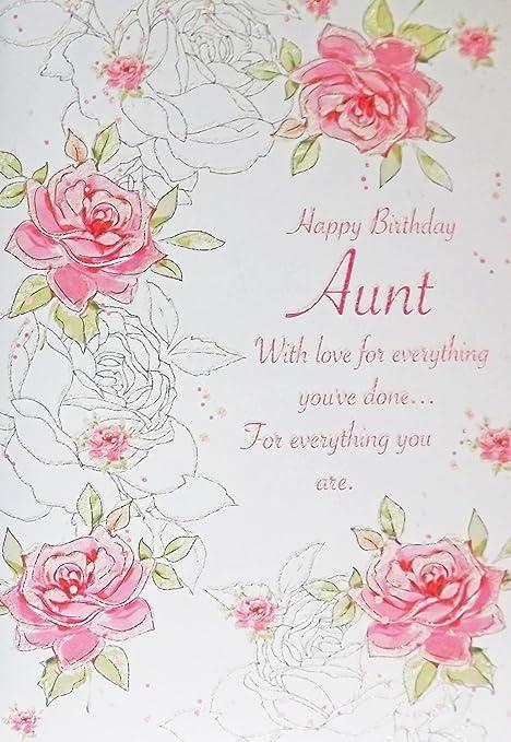 Pink green happy birthday aunt birthday greetings card with pink green happy birthday aunt birthday greetings card with glitter embossed text m4hsunfo