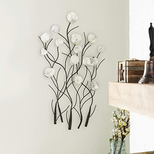 Amazon Com Benzara Metal Capiz Wall Decor Furniture Decor