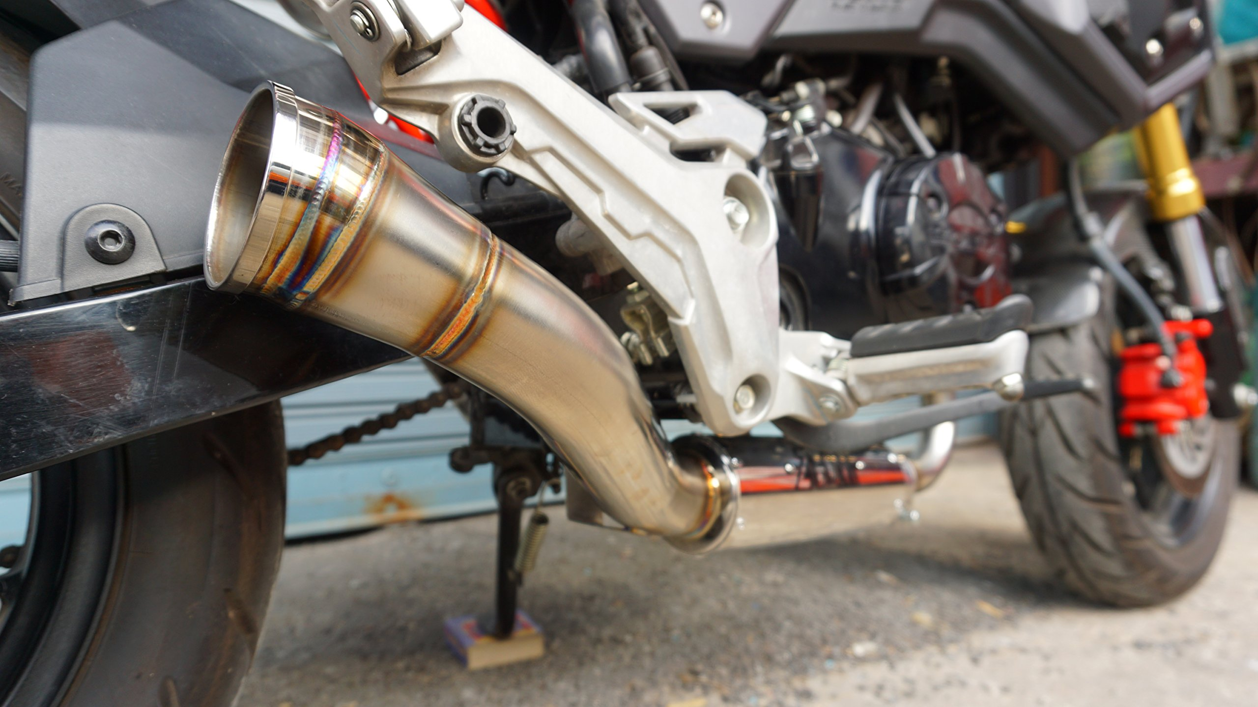 ZoOM Exhaust Fit For GROM 125 MSX SF 2013-2019 Full System Low Mount by ZoOM Exhaust