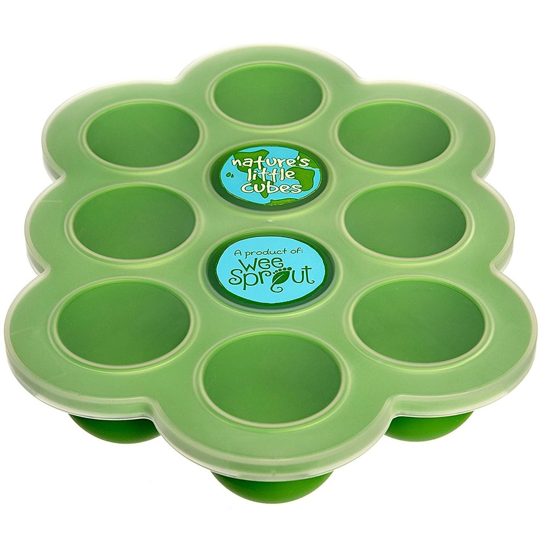 Baby Food Freezer Tray Green Silicone Infant Feeding ...