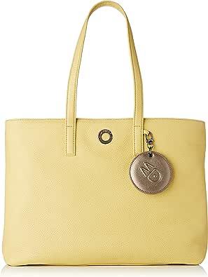 Mandarina Duck Mellow Leather Tracolla, Bolsa de mensajero para Mujer, Rosa, 15x27x36 Centimeters (W x H x L)