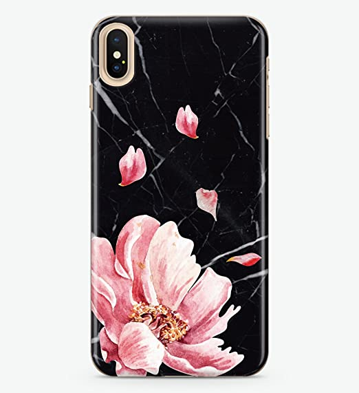 super popular 0a5c2 a7b09 Amazon.com: Hanogram Marble & Floral - iPhone X Case: Cell Phones ...