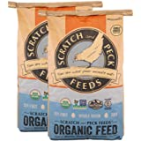 Scratch and Peck Feeds Naturally Free Organic Chicken Feed 16% Layer for Chickens and Ducks - 25-lb (2-Pack) - Non-GMO Projec