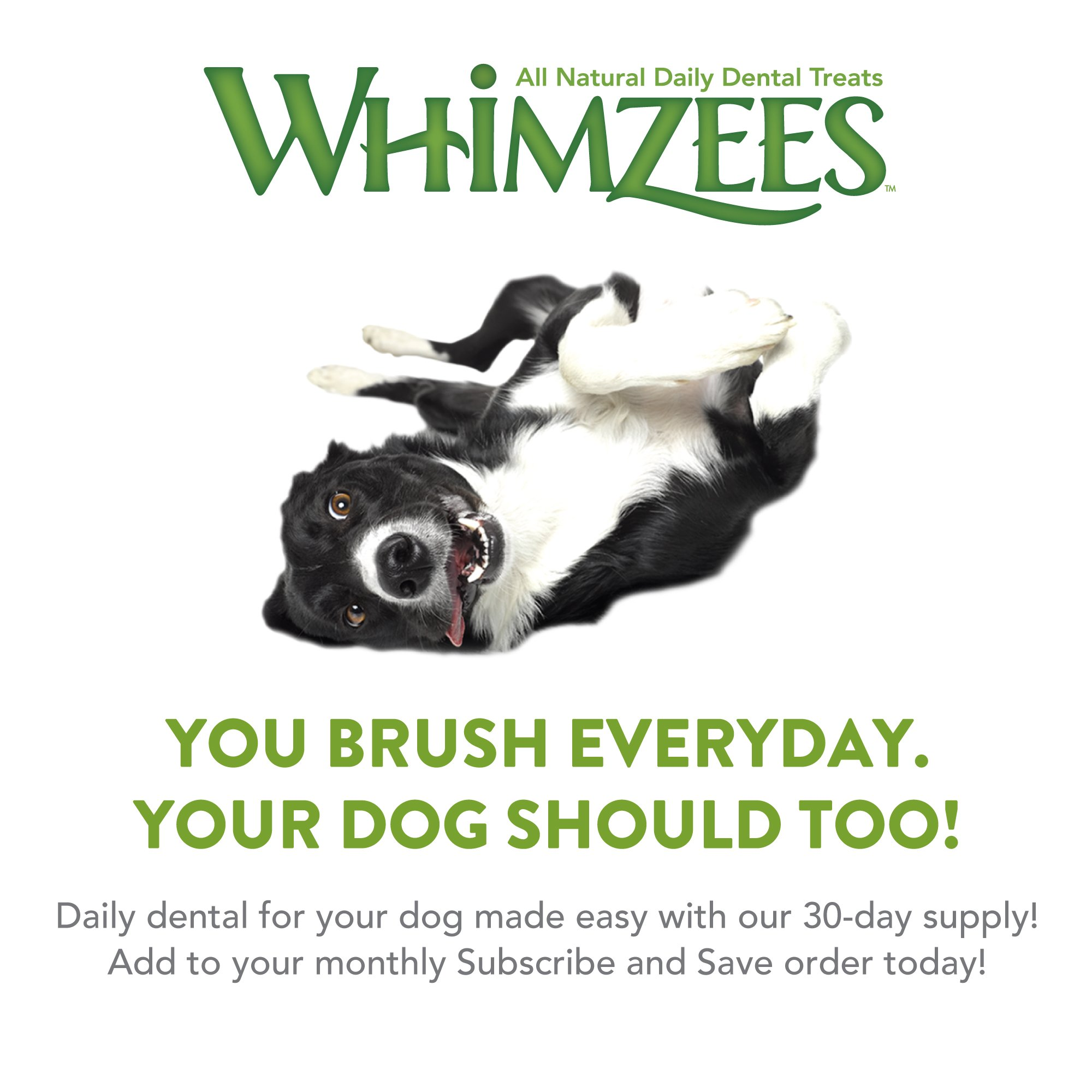Whimzees 30 Day Pack Dog Dental Treats, Large Brushzees, Pack Of 30 by Whimzees (Image #4)