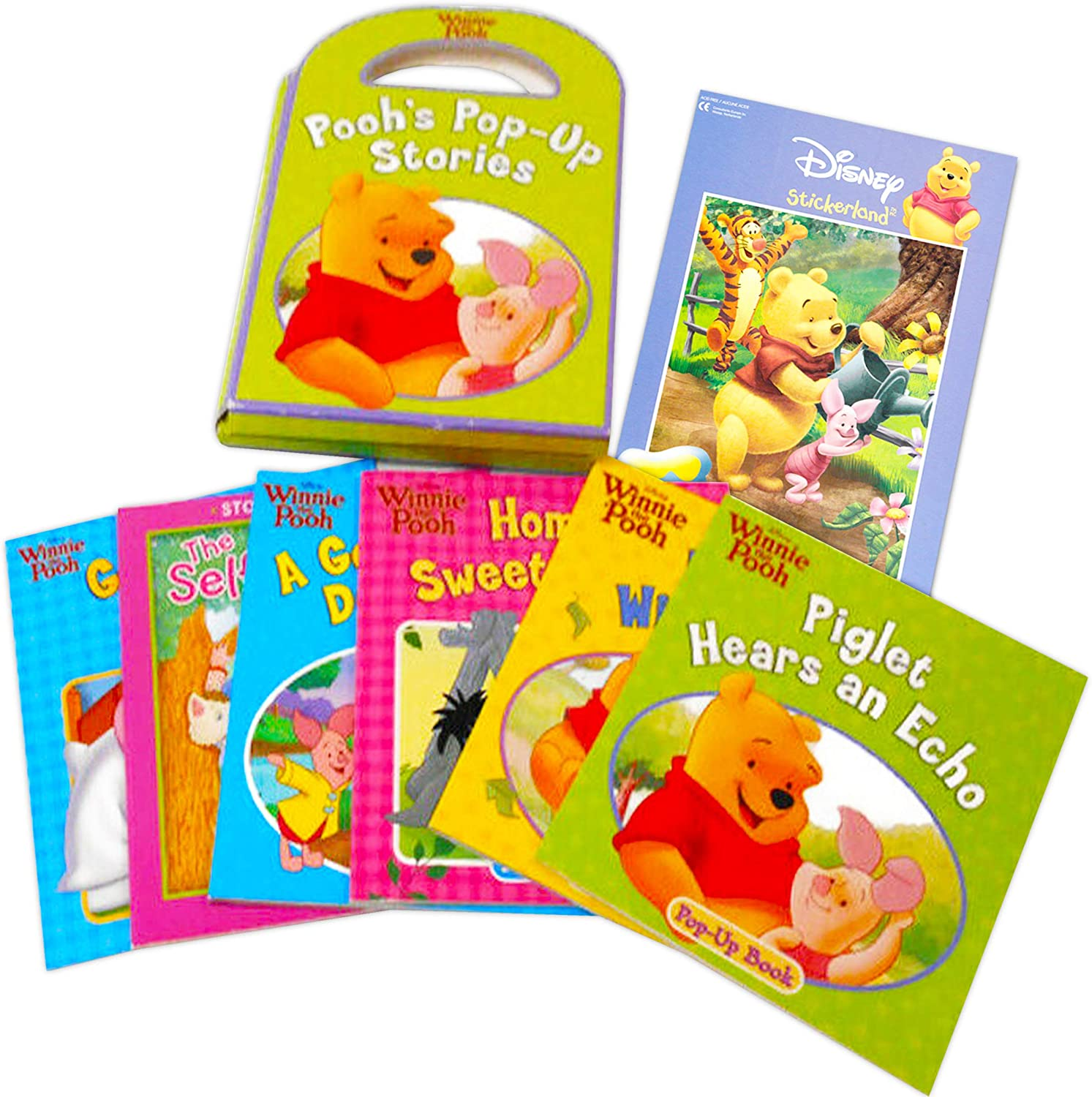 Disney Winnie The Pooh Pop Up Books Set Toddlers Babies Bundle ~ Pack of 6 Pooh Story Books with Stickers Winnie The Pooh Books for Infants