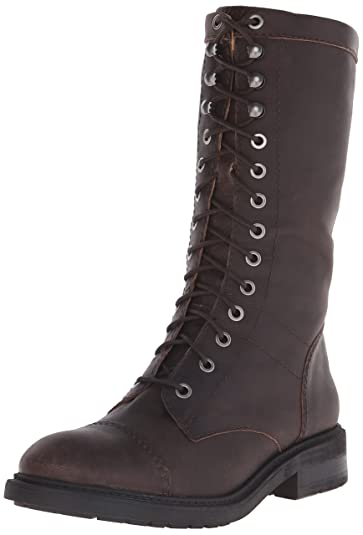 Amazon.com | Nine West Women's Gunner Leather Lace-Up Boot | Ankle ...