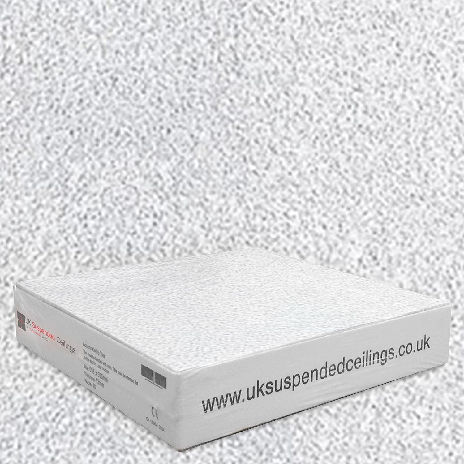 Sand Storm Ultimate White Ceiling Tiles