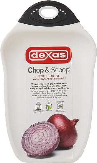 Dexas Foldable Chop /& Scoop Cutting Board Green
