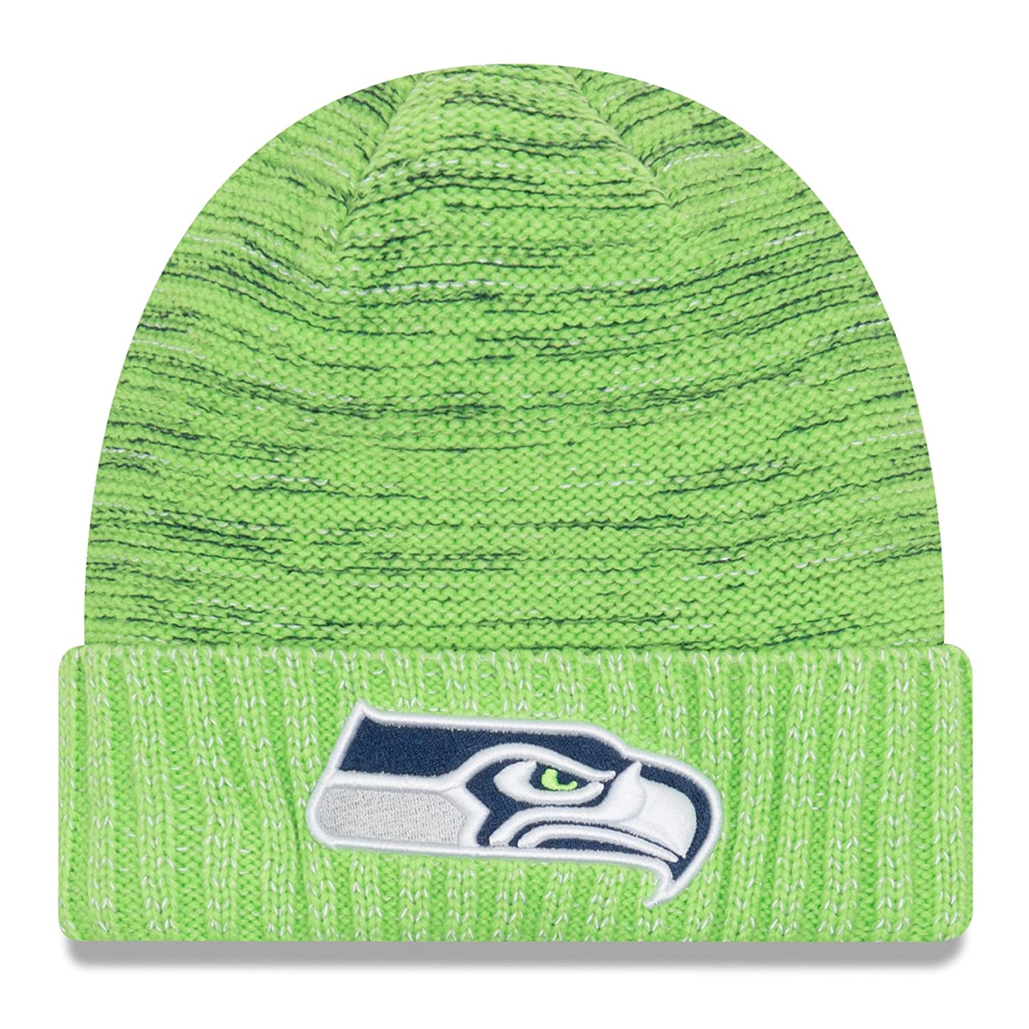 Amazon.com  New Era Seattle Seahawks Knit Beanie Cap Hat NFL 2017 Color  Rush 11461022  Clothing 1341c74a596