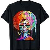 Black Queen Afro Melanin Art T-Shirt
