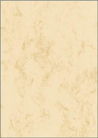 SIGEL DP191 Papel de cartas, 21 x 29,7 cm, 200g/m², mármol beige claro, 25 hojas